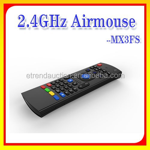 Hot Sell Dual Side MX3FS Six Axis 2.4g Driver Wireless USB Air Mouse for Android TV Box