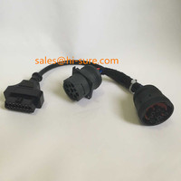 heavy duty connector Deutsch connectors J1939S to J1939P+OBDF for obd2 adapter Split Y Cable for diesel obd2 scanner