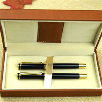 OEM customized laser LOGO design promotion heavy metal fountain pen with gif box