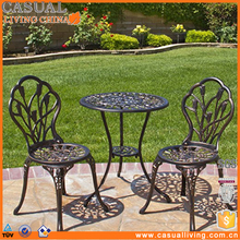 Sale outdoor Cast Metal Iron Garden 3pc French Cafe bistro Furniture patio set
