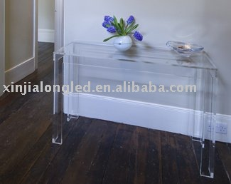 Hot Sale Clear Acrylic Table Acrylic Console Table Plexiglass Console Table Wholesale