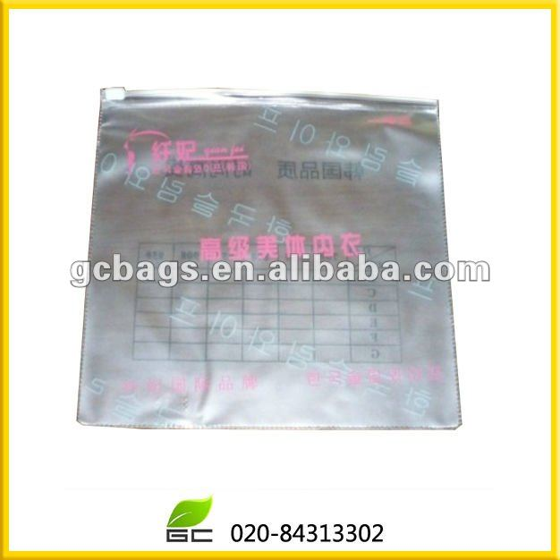 2013 New style printed pvc packing bag with zip lock