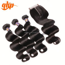 QHP hair grade 100% unprocessed virgin brazilian body wet and wave hair weaving
