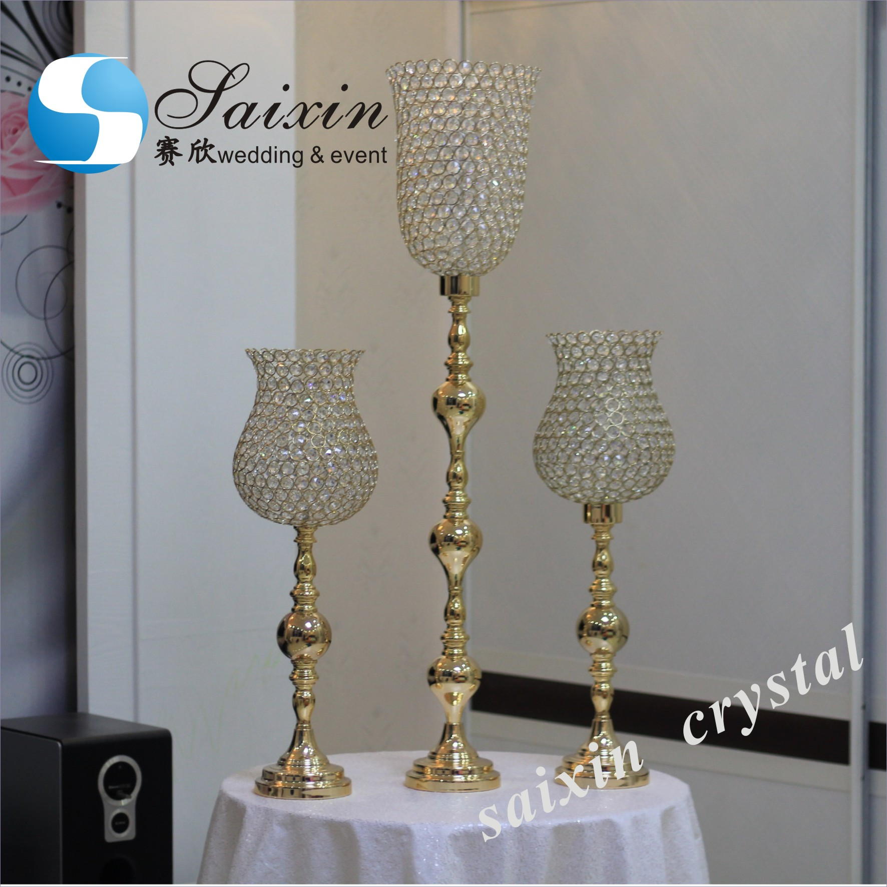 Modern design high quality metal tall candelabra ZT-322