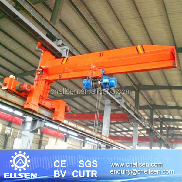 BB Model wall moveable 10 ton jib crane with track