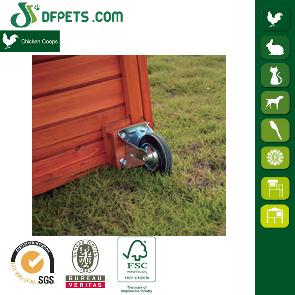 DFPets DFC1304 Newest Wooden Chicken Coop With Wheels
