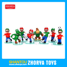Fun design Japan Nintendo anime world cup mario bros figure 5 inch 8 style football team super mario action figure for kids toys