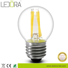 Cylinder 3.5w clear glass dimmable led filament lamp 2200k 2500k