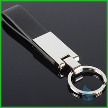 New product popular metal and leather key chain/new gadgets 2014 fashion metal leather keychain