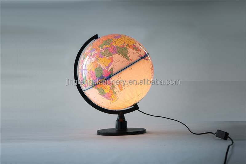 Best seller Good quality 32cm world globe map with led in many style