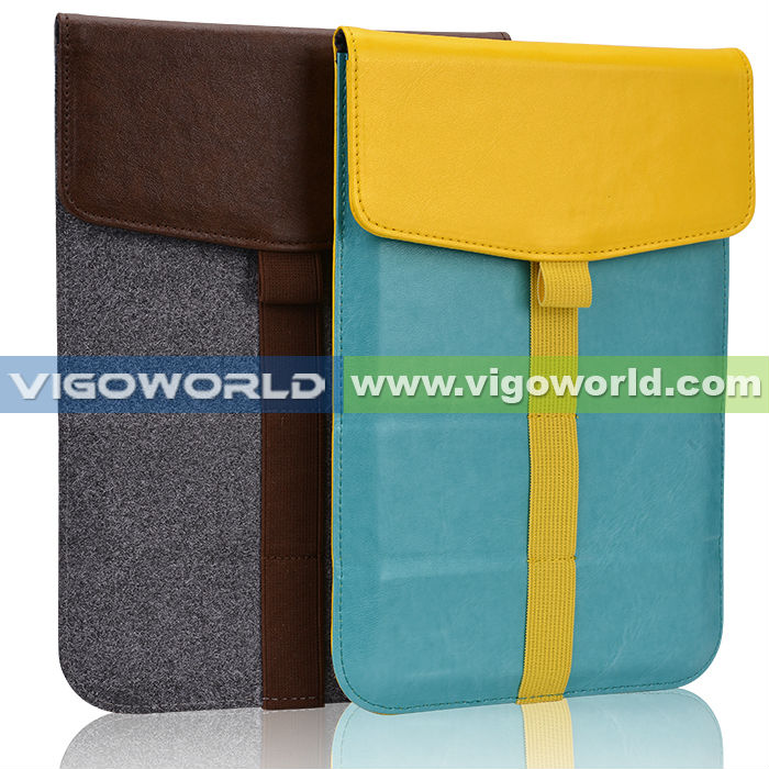 Wrapped stack sleeve for 9 inch tablet for ipad mini with stand function
