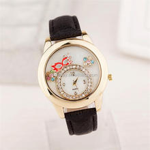 black leather strap watch 2015 new trend hot sale wrist watch