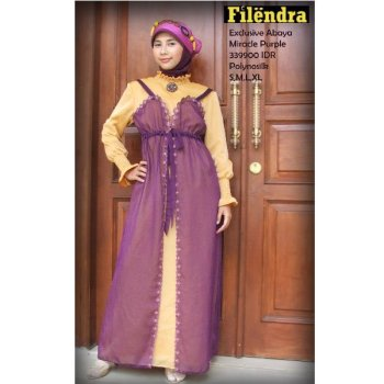 Miracle Purple Abaya dress