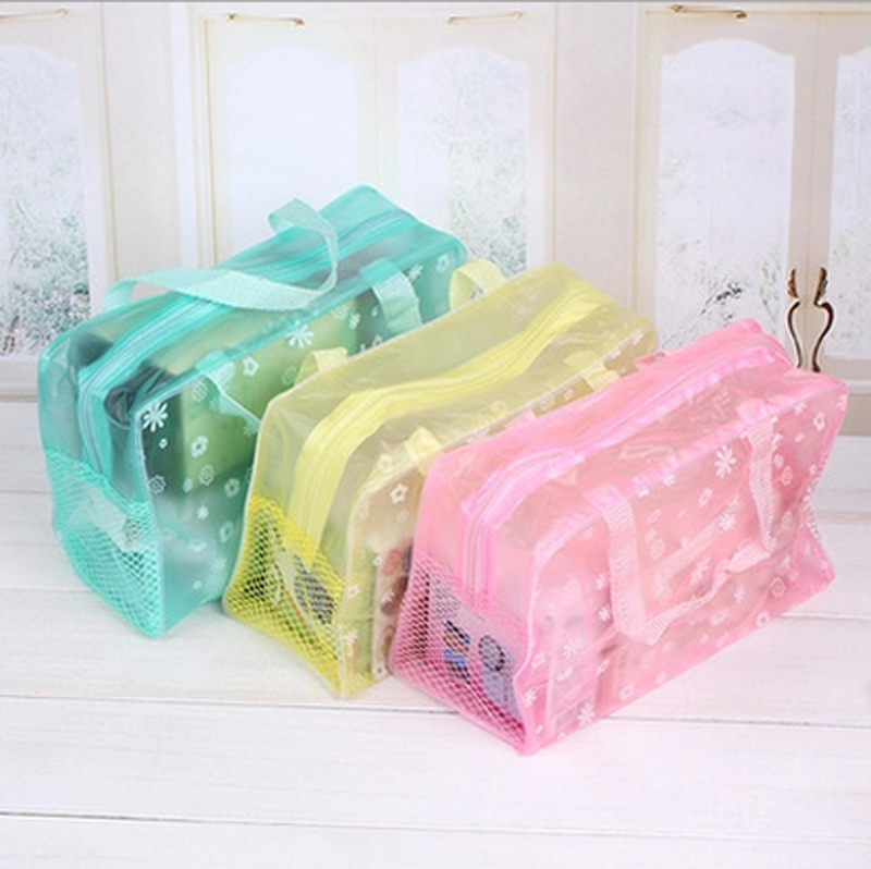 wholesale cheap travel makeup accessories transparent waterproof clear cosmetic bag