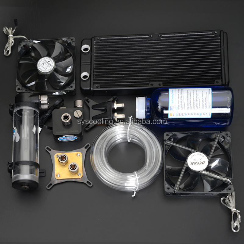 Syscooling water cooling system with heatsink water block mini pump for computer CPU GPU/VGA