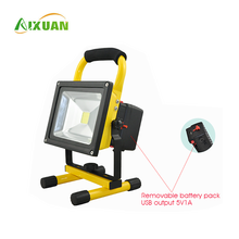 Aixuan 50 Watt 30W 200 watt Green Led Portable Rgb Rechargeable Outdoor Flood Light With Sensor