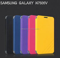 High quality leather cover for samsung galaxy note 3 neo, N7506V PU leather stand flip case
