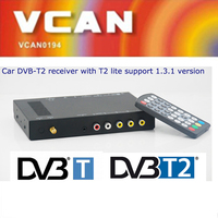 Popular car dvb-t2 digital tv receiver with one tuner one antenna usb mini t2 box for Russia Thailand
