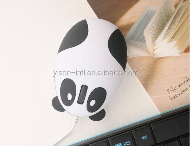 Hot Sale Cute cartoon panda wired mouse