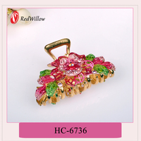 Hot china products wholesale Flower retro hair claw clip