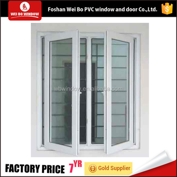 Double glazing pvc/upvc casement window low price swing window