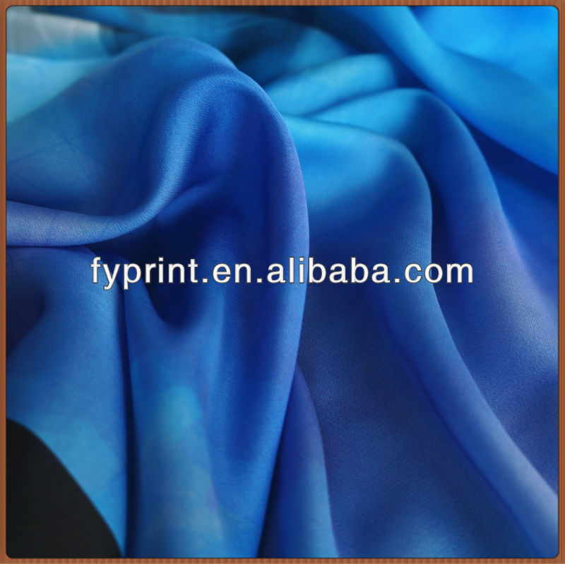 Factory Direct Digital Printed Polyester Satin Drapery Fabric 59""