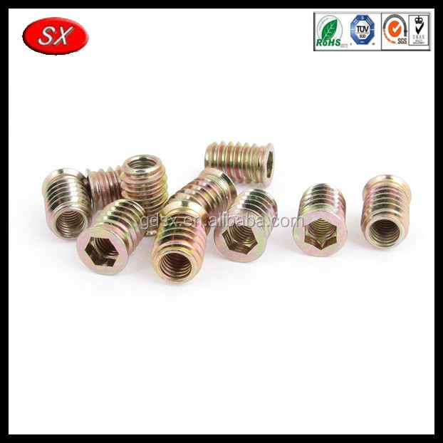 customized spiral lock nut , M8 insert nut, Factory made furniture wood insert nut