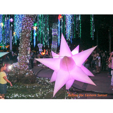 Inflatable Party Decoration Hanging Eastern Star with LED Changeable Light and Blower