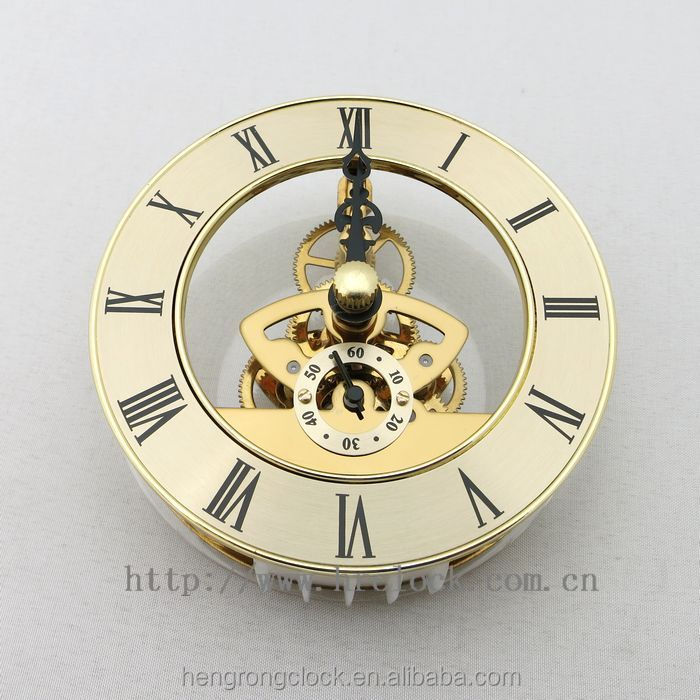 battery metal clock inserts wholesale crafts skeleton clock movement skeleton clock insert