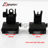 Hot Sell High Quality Tactical Flip up Front and Rear Back up Iron Sight for m4 carbine
