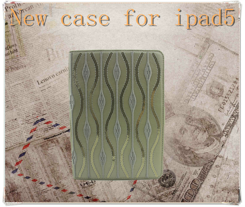 Tablet case for ipad air accessories,with stylus holder pu case for ipad air smart cover