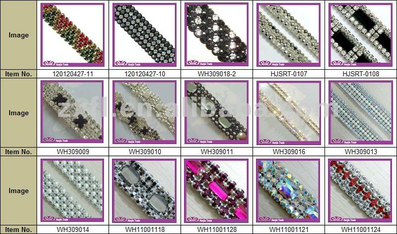 Hot Sale Crystal Cake Banding in Crystal Color Rhinestone