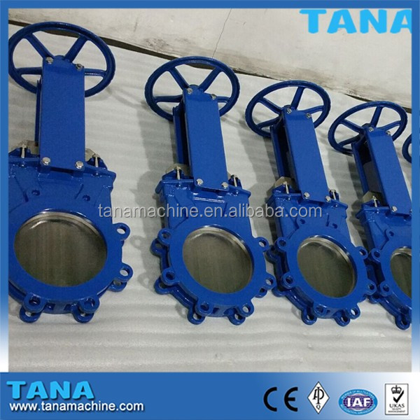 Manual Operated cast steel Wafer lug type knife gate valve