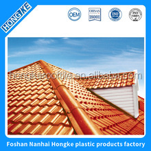 Anti-UV color stable synthetic Spanish terracotta roof tile
