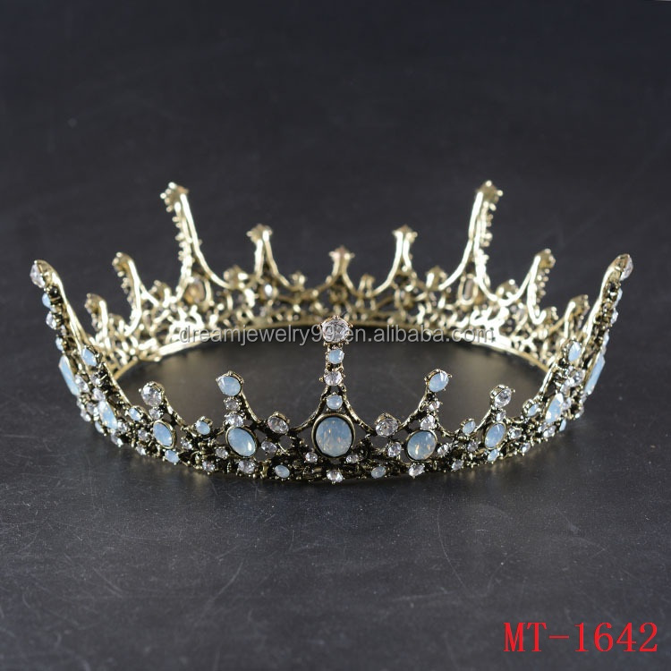 European style of the ancient palace queen bride hair round the whole circle of Baroque crown crown headdress