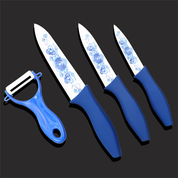 Hot selling kitchen knife ceramic knife with peeler UD1008