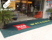 Anti Slip Custom Handmade Welcome Squares Logo Door Outdoor Flooring Carpet