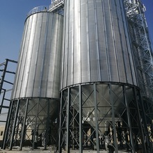 Farm used corrugated plate steel grain storage silo for sale