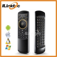 Double side 2.4g mini portable keyboard for smart tv box android, wireless keyboard air mouse and IR remote