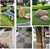 Polished stones for Garden pavement