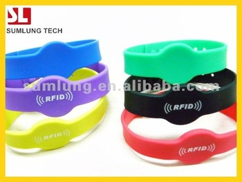 125KHz Silicone Wristband RFID Proximity Watch Type RFID Wristband Waterproof
