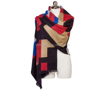 wholesale cashmere feel acrylic shawl scarf