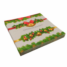 High quality printed cooktail tissue paper with flower design and luncheon paper napkins