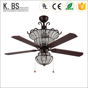 Humanized Elegant And Graceful Ceiling Fan With Led Chandelier Combo Lighting Remote Control For Ceiling Fan