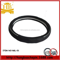 Genuine leather car steering wheel cover /Car accessories