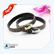 Women exquisite leather gift stingray bracelets in market