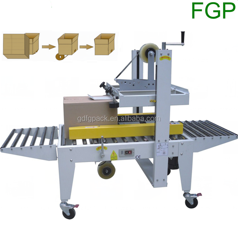 Adhesive tape carton sealer fxj6050b semi automatic box sealing machine