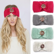 2017 handmade Woolen adult crochet braided elastic headband headbands hair head wrap bands wraps women knitted headwrap