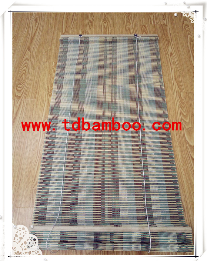 High quality factory price stripe bamboo window curtain for hotel