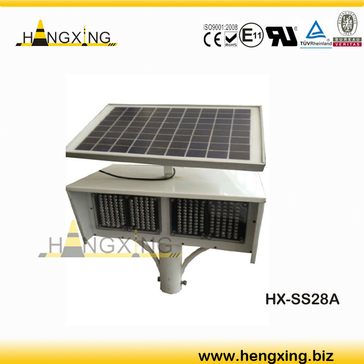 HX-SS28A Sloar Flashing LED Traffic Light
